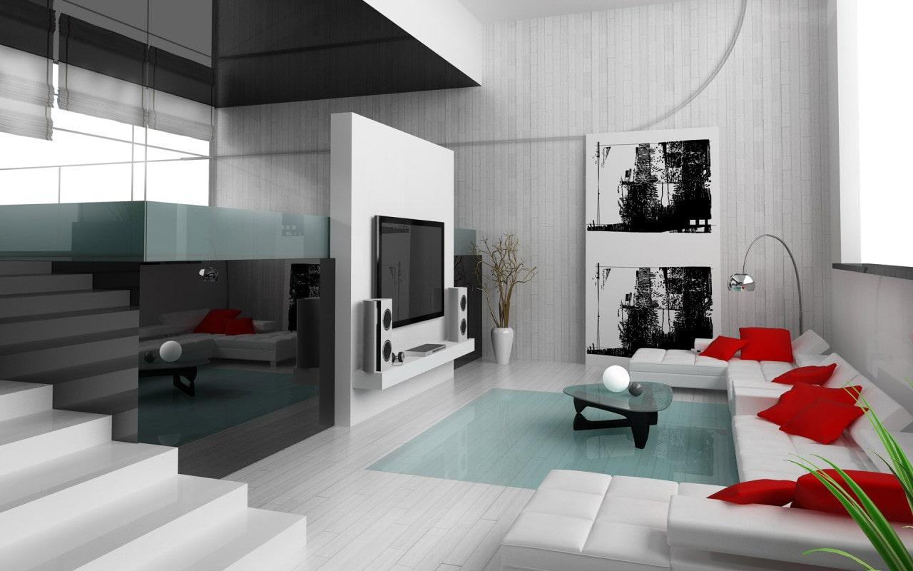 Двухуровневая квартира - стиль техно