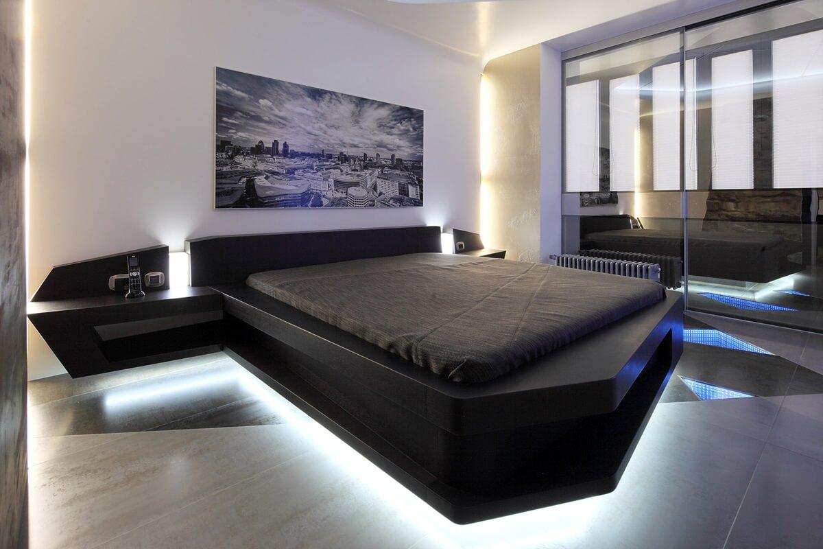 Спальня в техно-стиле