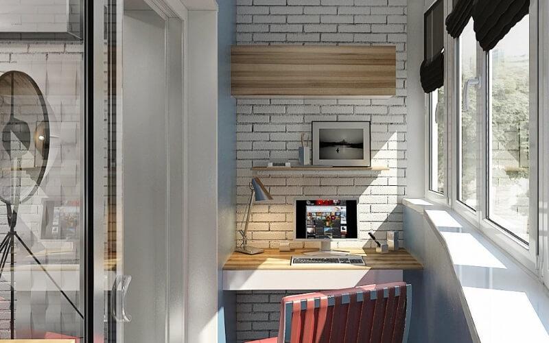Дизайн балконов и лоджий под рабочий кабинет